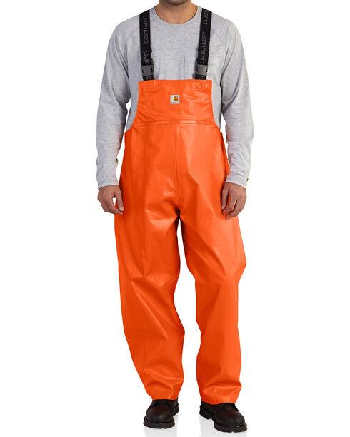 Carhartt Men's Orange Belfast Bib Overalls , Orange, hi-res