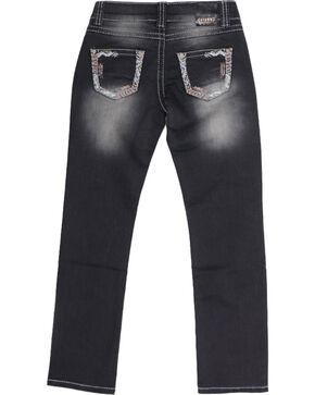 Shyanne Girls' Low Rise Jeans - Straight Leg, Blue, hi-res