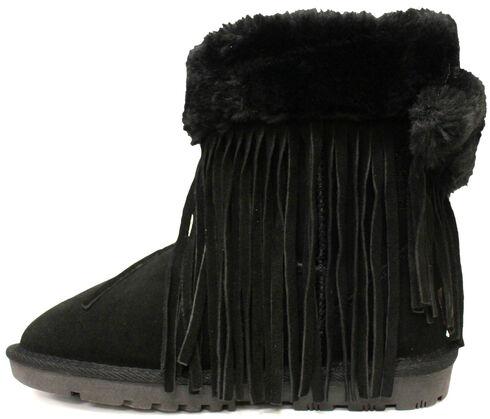 Lamo Footwear Women's Fringe Wrap Boots, Black, hi-res