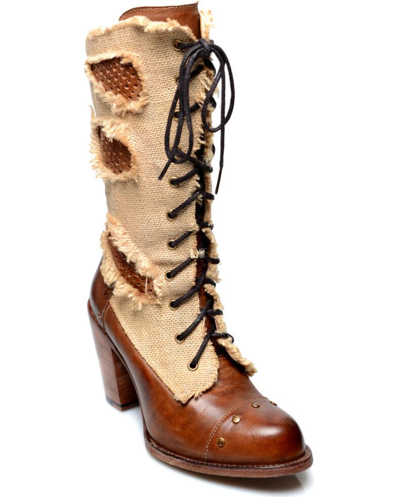 Oak Tree Farms Women's Tan Alice Lace Up Boots, Tan, hi-res