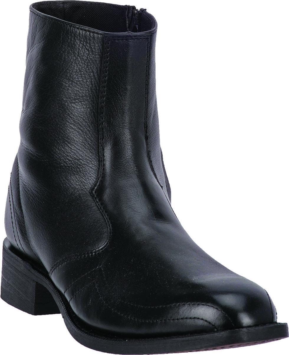 Laredo Men's Hoaxie Side-Zip Short Boots - Square Toe, Black, hi-res