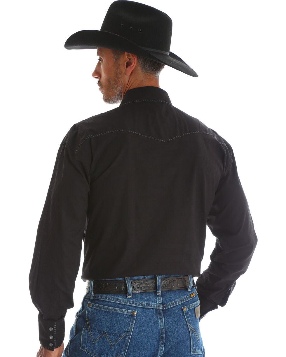 Wrangler George Strait Men's Troubadour Black Long Sleeve Shirt, Black, hi-res
