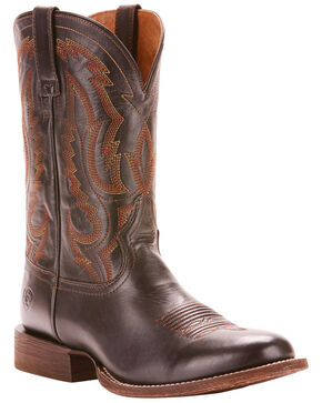 Ariat Men's Circuit Competitor Performance Cowboy Boots - Round Toe, Black, hi-res