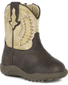 b0f1659263f Roper Infant Boys Cowbaby Billy Pre-Walker Cowboy Boots - Round Toe