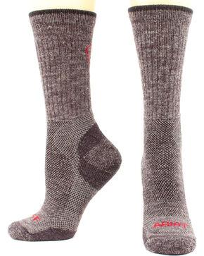 Ariat Men's Merino Mid Weight Hiker Socks - Two Pack, Hthr Grey, hi-res