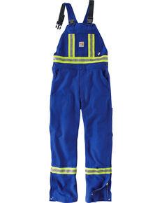 Carhartt Men's Flame Resistant High-Visibility Overalls, Royal, hi-res