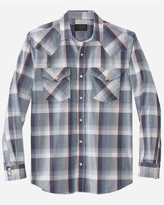 Pendleton Men's Blue Frontier Plaid Long Sleeve Snap Western Shirt , Multi, hi-res