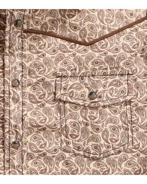 Cowboy Hardware Boys' Mini Paisley Print Long Sleeve Shirt, Brown, hi-res