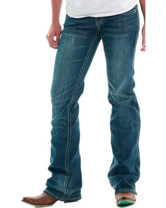 Cowgirl Tuff Women's Don't Fence Me In Jeans - Boot Cut, Indigo, hi-res