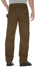 Dickies Relaxed Straight Fit Sanded Duck Double Knee Jeans - Big & Tall, Timber, hi-res