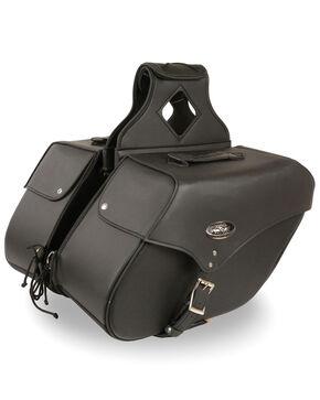 Milwaukee Leather Large Zip-Off Single Strap Throw Over Saddle Bag, Black, hi-res