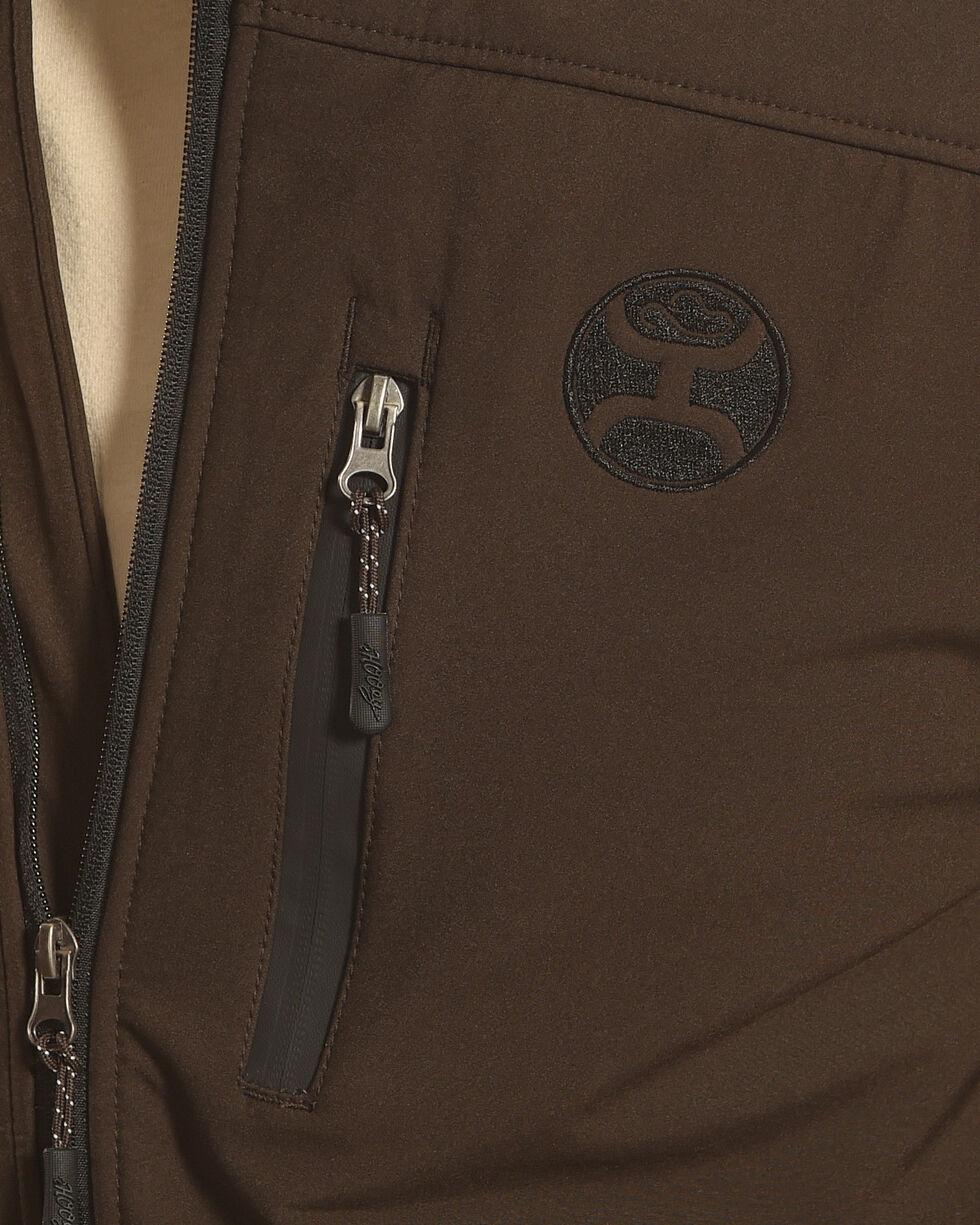 Hooey Men's Brown Bonded Softshell Jacket , Brown, hi-res