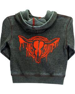 Cowboy Hardware Boys' Drip Skull Sweatshirt, Brown, hi-res