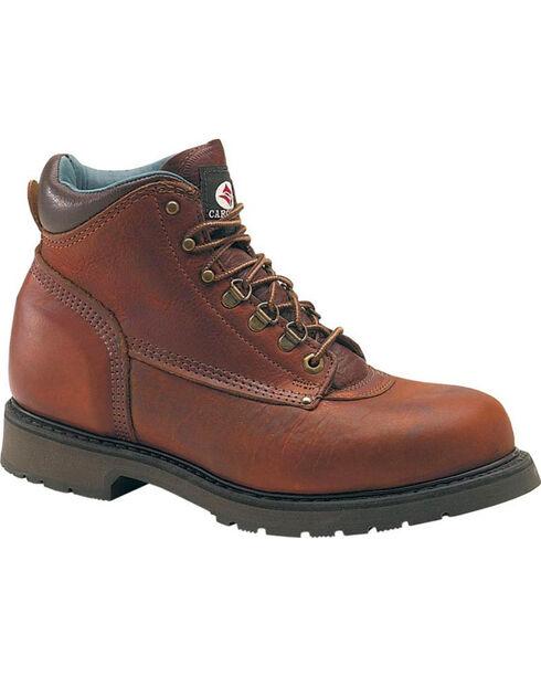 "Carolina Men's Domestic 6"" Work Boots - Steel Toe, Brown, hi-res"