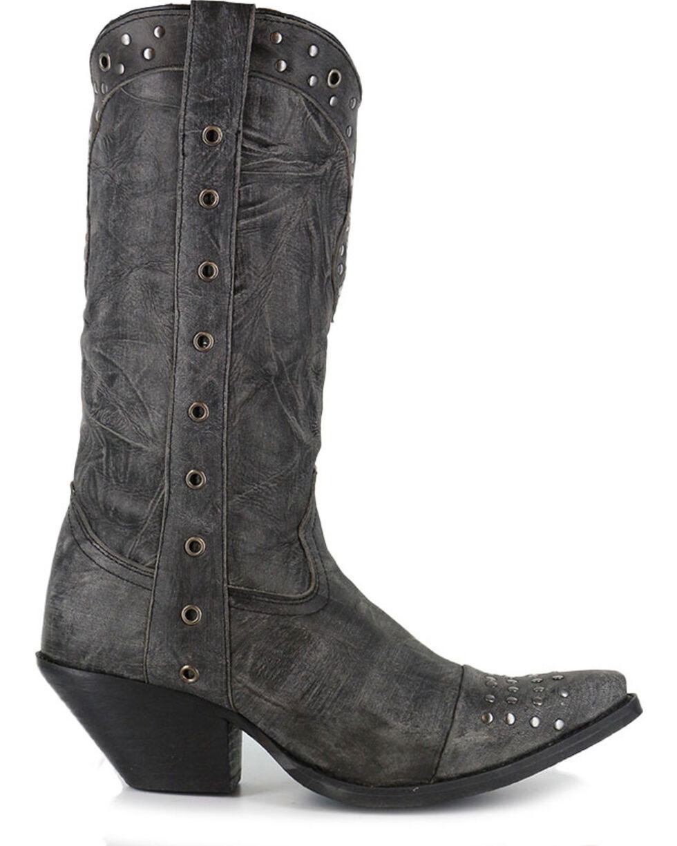 Durango Women's Crush Punk Studded Western Boots - Snip Toe, Black, hi-res