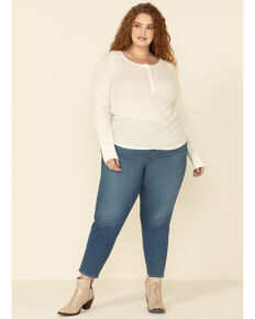 Levi's Women's Dark Burgundy Moleskin High Rise Wedgie Skinny Jeans - Plus, , hi-res