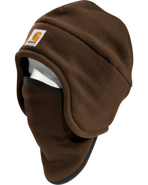 Carhartt 2-in-1 Fleece Headwear, Dark Brown, hi-res
