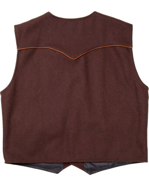 Schaefer Outfitter Men's Chocolate Stockman Melton Wool Vest - 3XL, Chocolate, hi-res