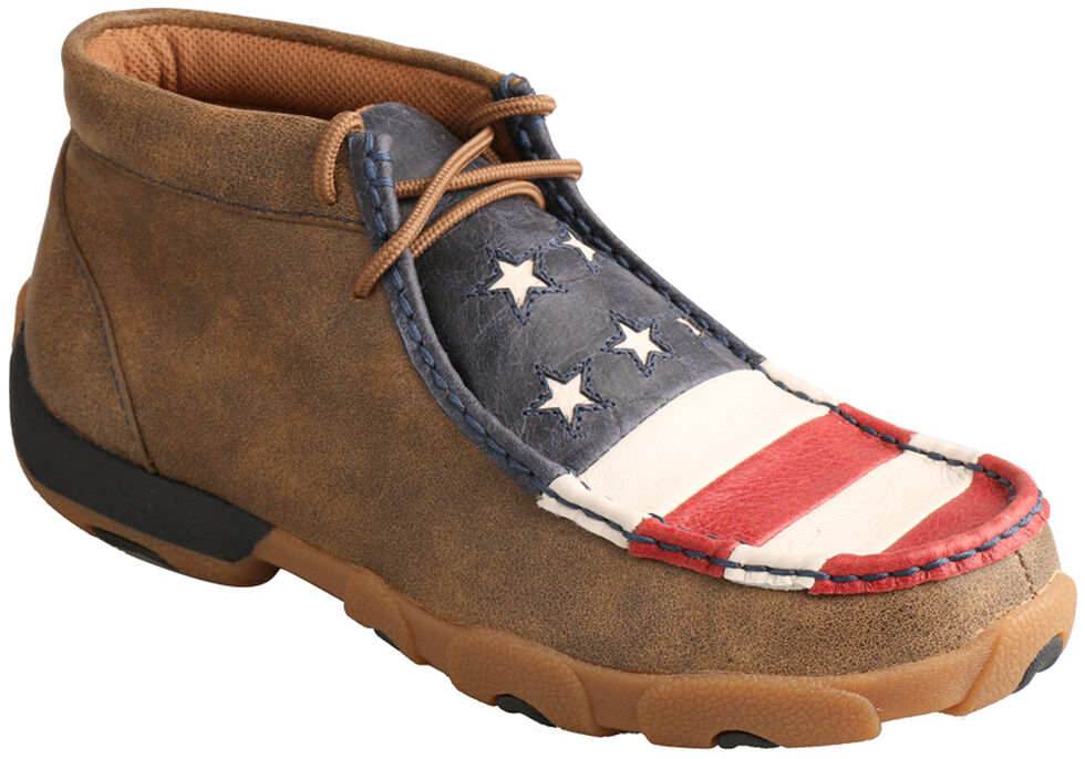 Twisted X Women's VFW American Flag Driving Mocs, , hi-res