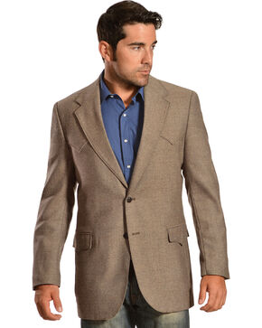Circle S Men's Plano Lambswool Sportcoat - Big , Tan, hi-res