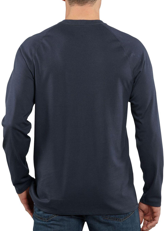 Carhartt Force Long Sleeve Work Shirt - Big & Tall, Navy, hi-res