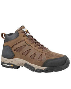 Carhartt Men's Lightweight Hiker Work Boots - Soft Toe, Brown, hi-res