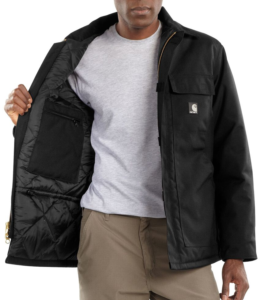 Carhartt Men's Extremes® Arctic Quilt-Lined Work Coat, Black, hi-res