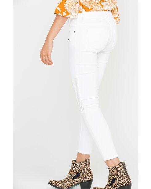 Miss Me Women's White ZIpper Jeans - Skinny , White, hi-res