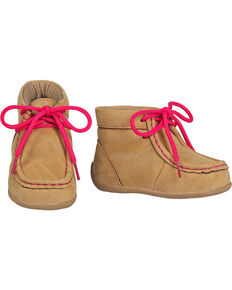 Blazin Roxx Toddler Girls' Reagan Pink Casual Shoes - Moc Toe, Tan, hi-res