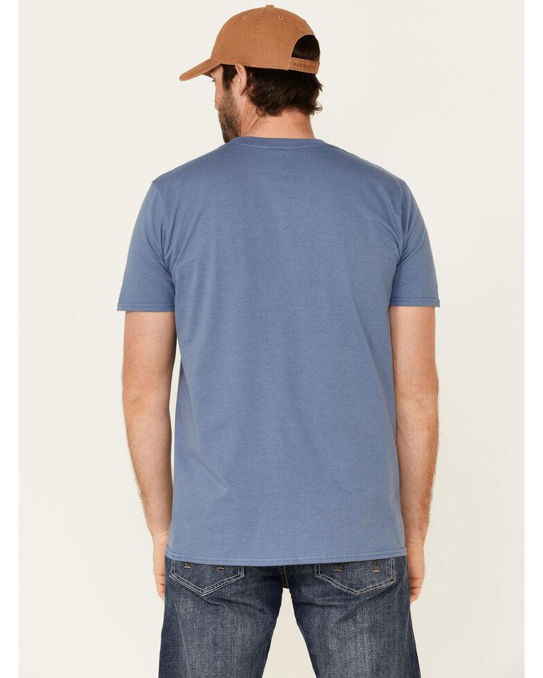 Moonshine Spirit Men's 100% Freedom Eagle Graphic Short Sleeve T-Shirt , Blue, hi-res