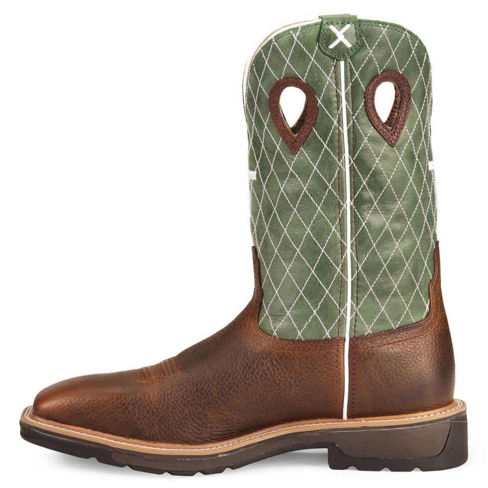 Twisted X Lite Weight Work Boots - Square Toe, Cognac, hi-res