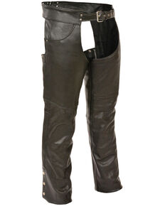 Milwaukee Leather Men's Classic Chap With Jean Pockets - 5X Tall, Black, hi-res