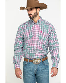 Ariat Men's Kermit Plaid Long Sleeve Western Shirt , Multi, hi-res