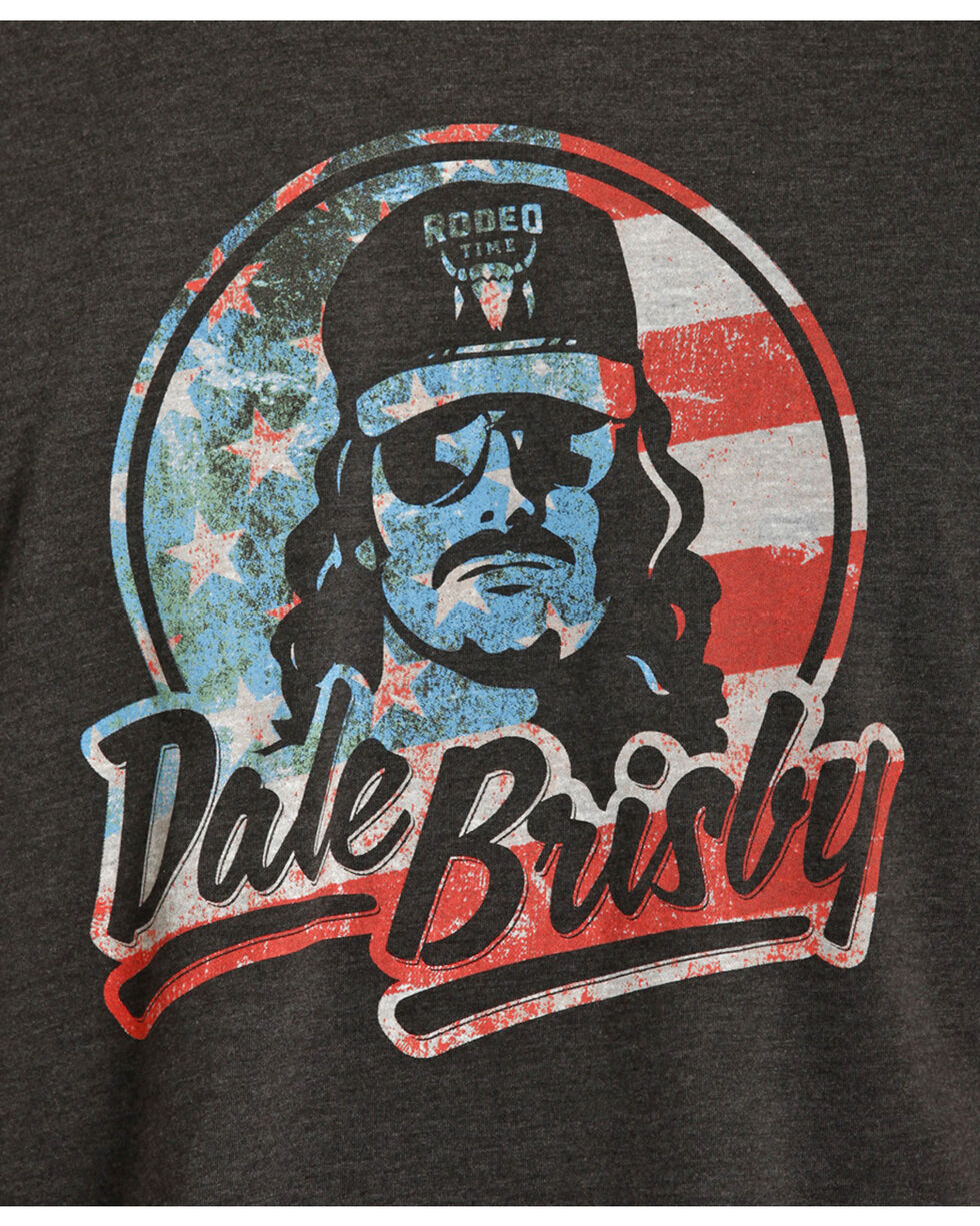 Dale Brisby Men's Black Patriotic Tee, Black, hi-res