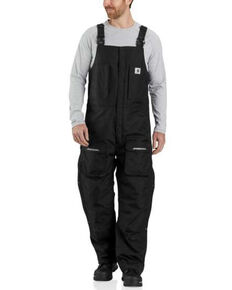 Carhartt Men's Black Yukon Extreme Insulated Biberall , Black, hi-res