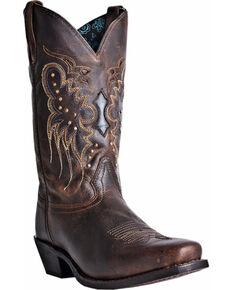 Laredo Women's Cora Cowgirl Boots - Square Toe, Burgundy, hi-res