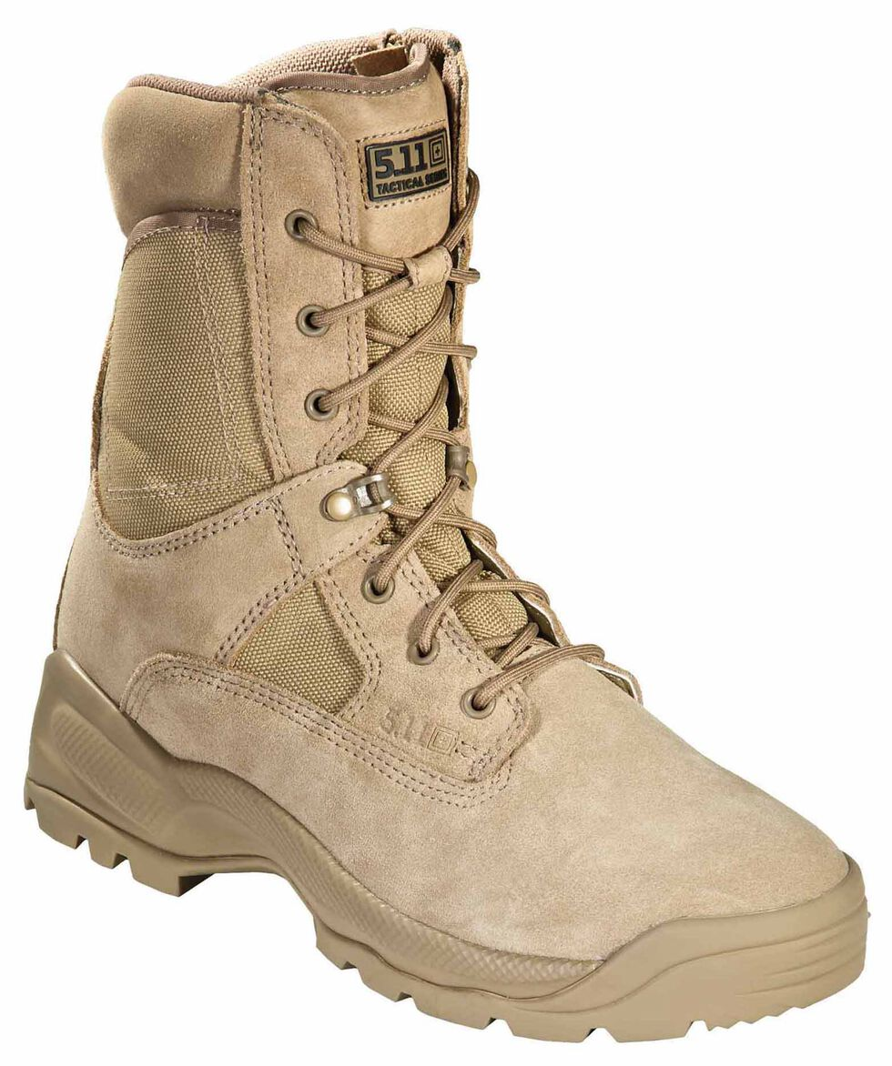 "5.11 Tactical Men's A.T.A.C. 8"" Boots, Coyote Brown, hi-res"