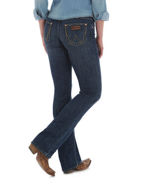 Wrangler Women's Madison RETRO Mae Jeans Boot Cut Jeans , Indigo, hi-res