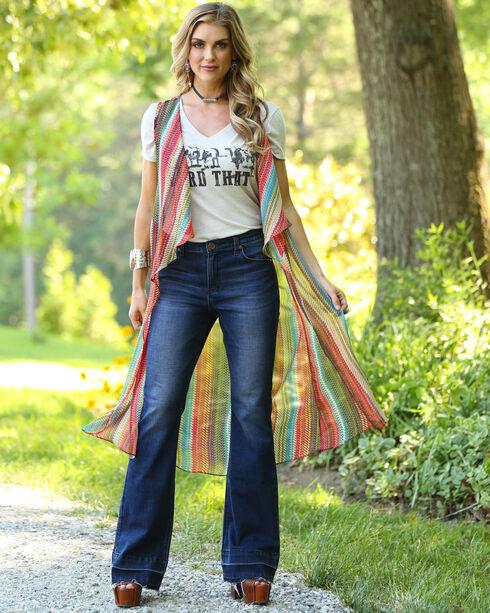 Wrangler Women's Rainbow Sleeveless Duster , Multi, hi-res