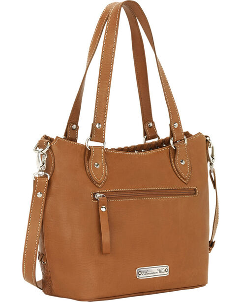 American West Tan Harvest Moon Bucket Tote, Tan, hi-res
