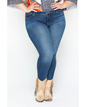 Silver Women's Indigo Faded Bleecker Jeggings - Plus Size, Indigo, hi-res