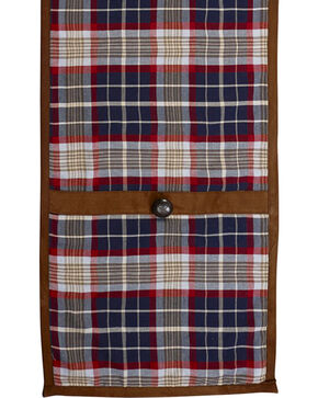 HiEnd Accents South Haven Blue Plaid & Suede Table Runner, Multi, hi-res