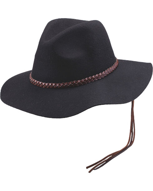 Women's Peter Grimm Golda Floppy Felt Hat, Black, hi-res