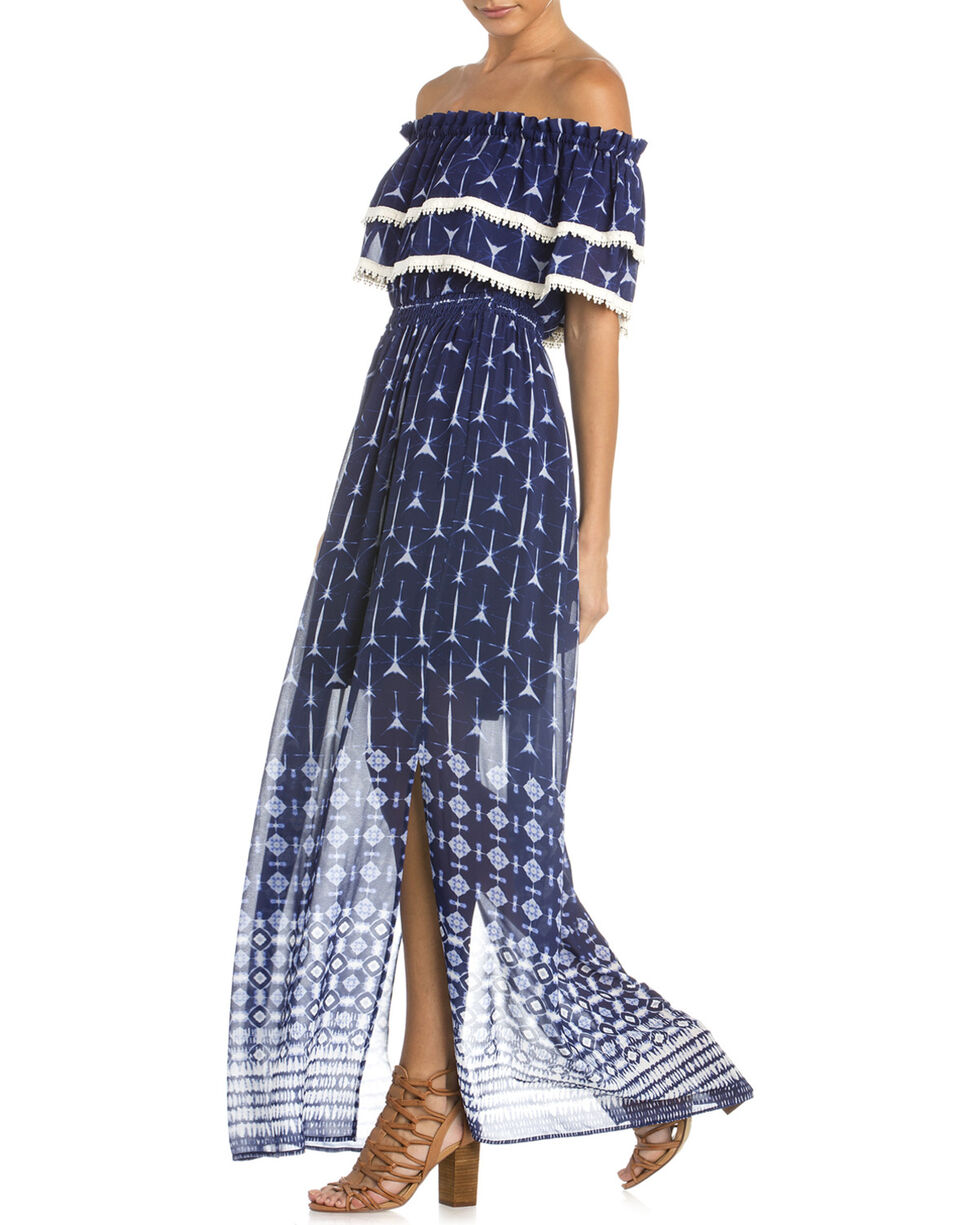Miss Me Women's Note To Self Maxi Dress, Navy, hi-res