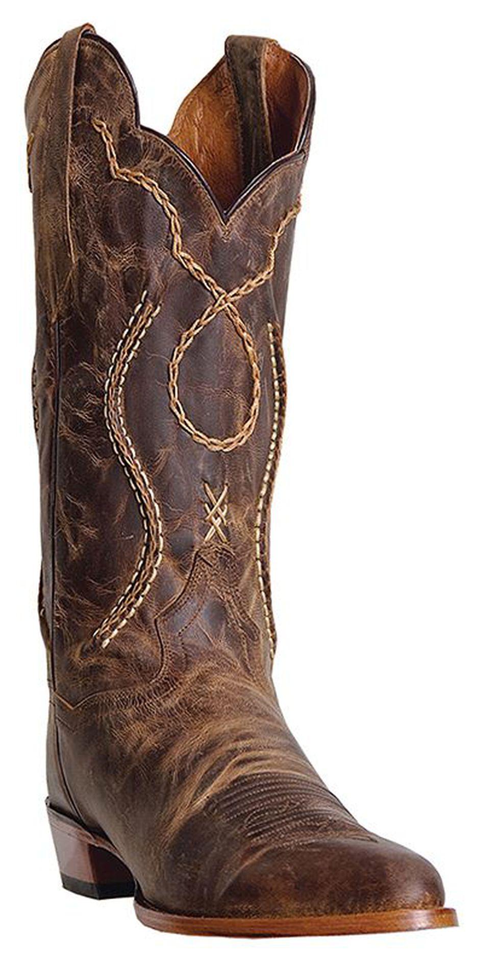 Dan Post Albany Cowboy Boots - Round Toe, Tan, hi-res