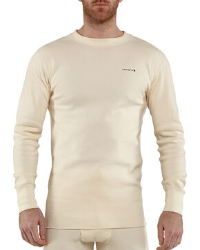 Carhartt Moisture-Wicking Thermal Under Shirt - Big & Tall, Natural, hi-res