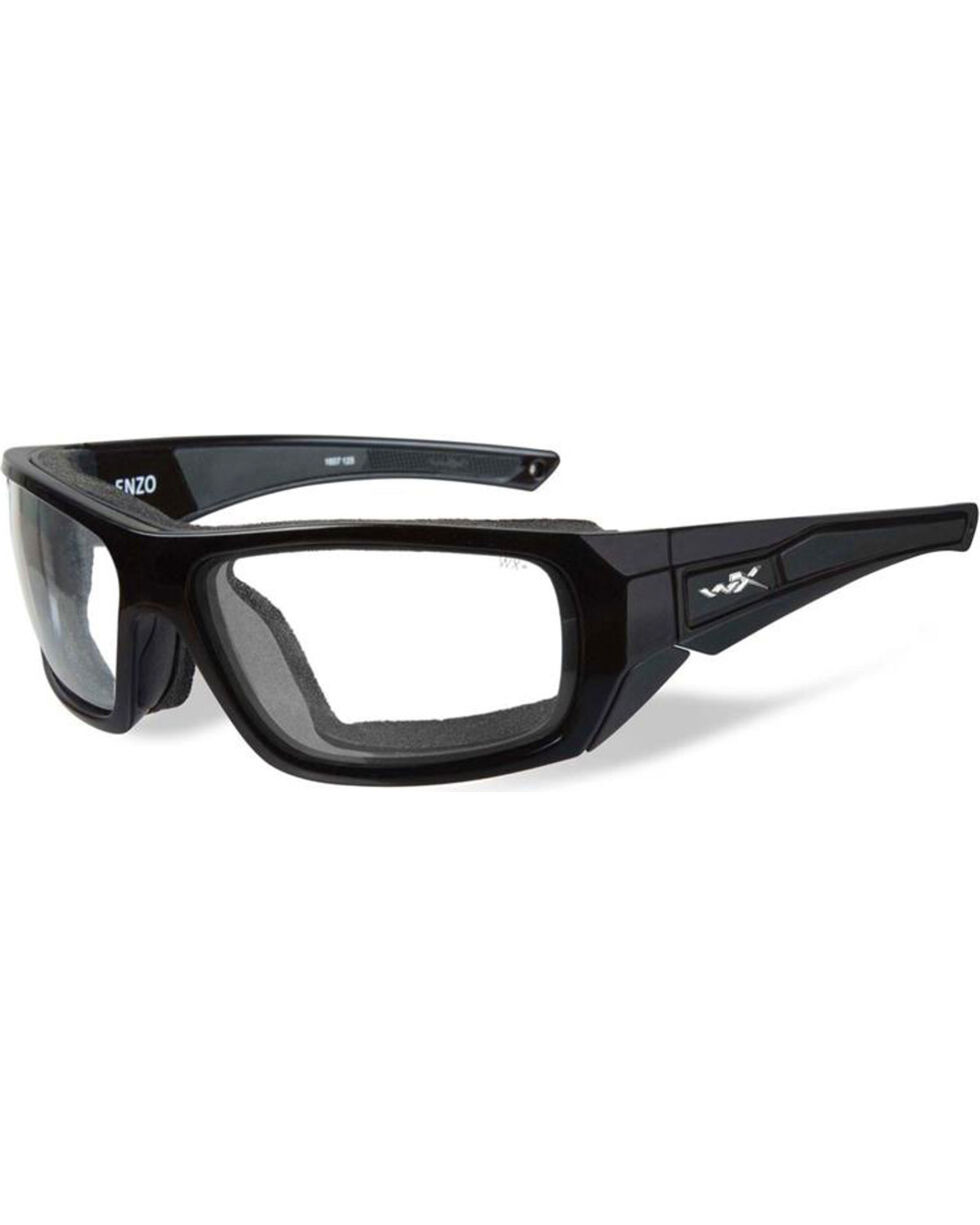 Wiley X Men's Enzo Climate Control Clear Lens Sunglasses , Black, hi-res