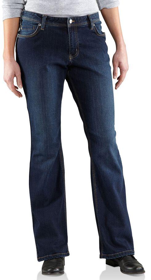 Carhartt Women's Relaxed Fit Dark Indigo Jasper Jeans, Dark Indigo, hi-res