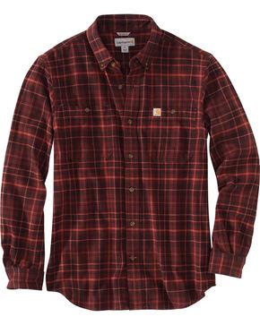 Carhartt Men's Trumbull Plaid Shirt - Tall , Brown, hi-res