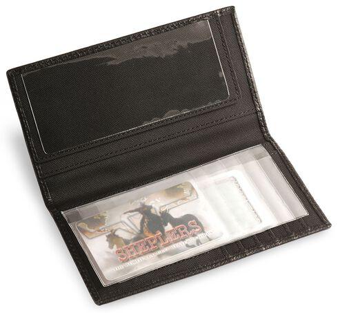 Nocona Star Concho Leather Checkbook Wallet, Black, hi-res